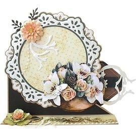 Marianne Design Modèle de poinçonnage: 2 cadre décoratif et deux feuilles