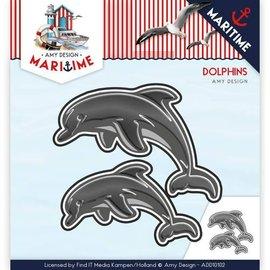 AMY DESIGN AMY DESIGN, Stamping template: Dolfinen