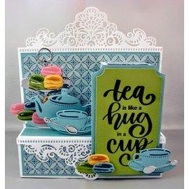 Marianne Design Skæring og prægning skabelon: Te til dig