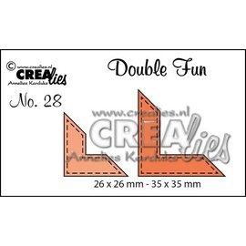 Crealies und CraftEmotions Stan templates: corner with Stitchlinien