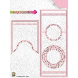 Nellie Snellen template perfuração: Magic Card, Round