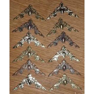 LaBlanche 12 Metal Scrapbook Ornaments