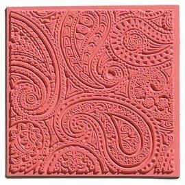 1 tessitura mat, Paisley, 90 x 90 mm