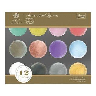FARBE / STEMPELKISSEN 20% di sconto speciale! 12 colori: Mix & Match polvere del pigmento