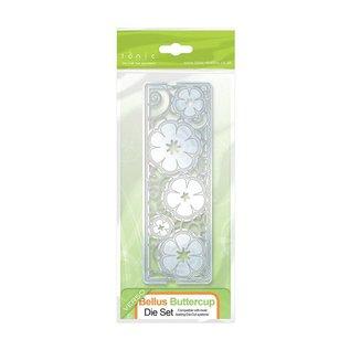 Tonic Stanz-und Prägeschablone: filigrane Zierbordüre mit Blumen