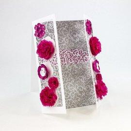 Tonic Stampaggio e modello di goffratura: bordo decorativo filigrana con i fiori
