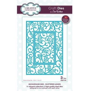 CREATIVE EXPRESSIONS und COUTURE CREATIONS Punching template: Scattered Leaves