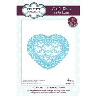CREATIVE EXPRESSIONS und COUTURE CREATIONS Punching template: Fluttering Heart