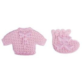 Embellishments / Verzierungen Babyaccessoires Hemdchen + Söckchen babyrosa