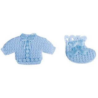 Embellishments / Verzierungen Babyaccessoires + chaussettes bébé nuisette bleu