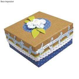 Embellishments / Verzierungen Satin Motif ponsband babyblauw