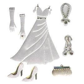 Embellishments / Verzierungen Satin déco Autocollants: mariage