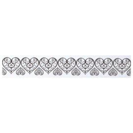 Embellishments / Verzierungen Washi tape met uitgeponste edge pieken: hart