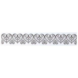 Embellishments / Verzierungen Washi Tape mit gestanztem Spitzen-Rand: Herze