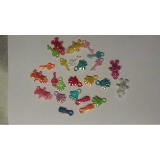 Embellishments / Verzierungen 25 Pendentif en acrylique, bébé thème dans différentes couleurs