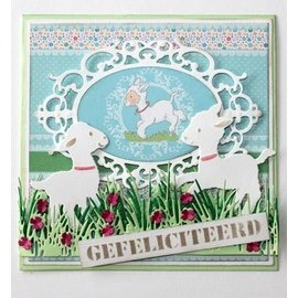 Joy!Crafts / Jeanine´s Art, Hobby Solutions Dies /  Stanzschablone: Bordüre Gras mit Blümchen