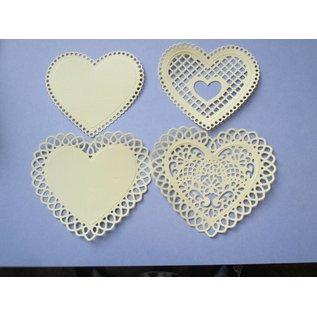 Spellbinders und Rayher Stansning - og prægning stencil SET, blonder hjerte + Vintage nøgle