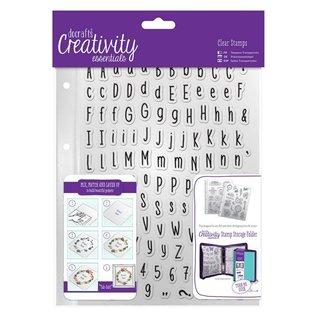 Stempel / Stamp: Transparent Transparent Stempel mit große und kleine Buchstaben