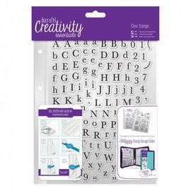 Docrafts / Papermania / Urban Transparent stamps with large and small letters