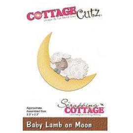 Cottage Cutz template perfuração: Sleeping ovelhas na lua