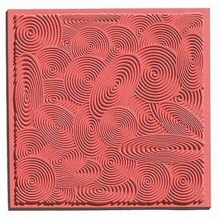 1 Texturmatte, Spirals, 90 x 90 mm