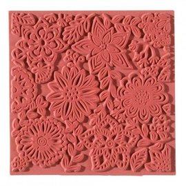 1 tekstur mat, blomster, 90 x 90 mm