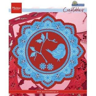 Marianne Design Ponsen sjabloon: cirkel Petra's met vogel