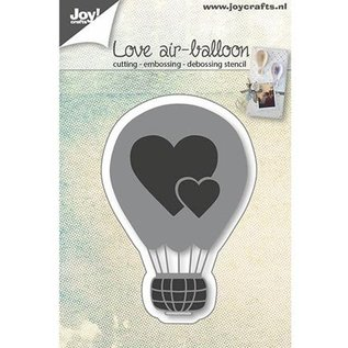 Joy!Crafts / Hobby Solutions Dies Stansning skabelon: Kærlighed ballon