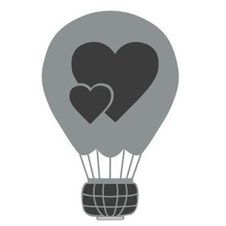 Joy!Crafts / Hobby Solutions Dies Stansning skabelon: Kærlighed ballon