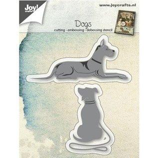 Joy!Crafts / Hobby Solutions Dies Ponsen sjabloon: honden liegen en zitten
