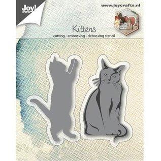 Joy!Crafts / Jeanine´s Art, Hobby Solutions Dies /  Stansning skabelon: katte, leger og sidder