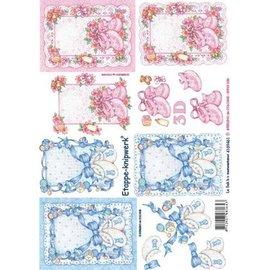 Bilder, 3D Bilder und ausgestanzte Teile usw... 3D sheet with baby motifs