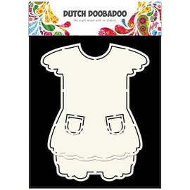 Dutch DooBaDoo A5 Schablone Card Art, Kleidchen