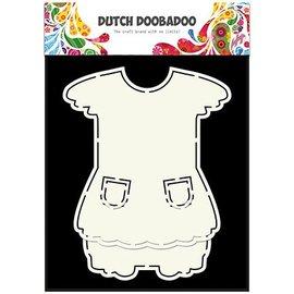 Dutch DooBaDoo A5 template card type, dress