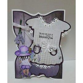 Dutch DooBaDoo A5 template type kaart, kleding