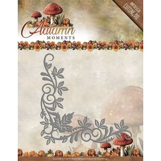 AMY DESIGN Stamping- and pre-template: corner with leaves