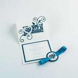 Tonic Stampaggio e modello di goffratura: filigrana decorativo Cuore di confine e di uccelli