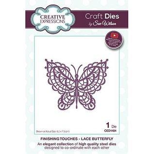CREATIVE EXPRESSIONS und COUTURE CREATIONS Stanzschablone: Spitze Schmetterling