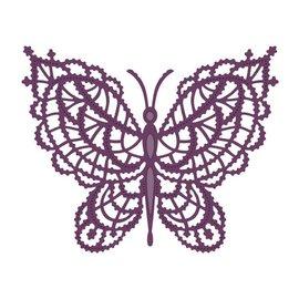 CREATIVE EXPRESSIONS und COUTURE CREATIONS Modèle de poinçonnage: papillon en dentelle