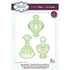 CREATIVE EXPRESSIONS und COUTURE CREATIONS Stamping template: Vintage Perfume Bottles
