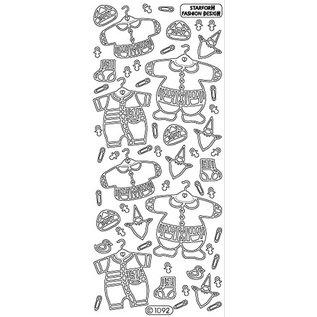 Sticker Ziersticker: Baby Kleidung Junge