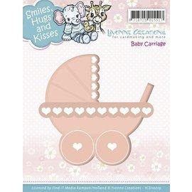 Yvonne Creations template perfuração: carrinho de bebé
