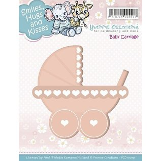 Yvonne Creations Stamping template: Stroller