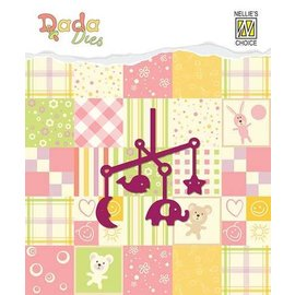Nellie Snellen Stamping template: baby mobile