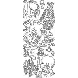 Sticker Ziersticker: Baby Mønstre