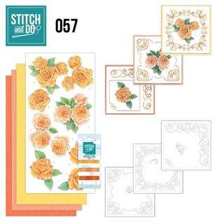 """BASTELSETS / CRAFT KITS ricamare mappa Sito """"Roses"""""""