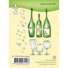 Leane Creatief - Lea'bilities Transparent stamp: Wine Party