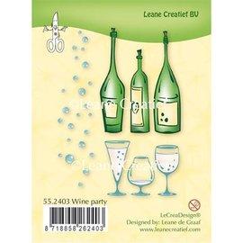 Leane Creatief - Lea'bilities und By Lene Transparent Stempel: Wine Party