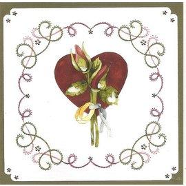 "BASTELSETS / CRAFT KITS a bordar Card Set ""casamento"""