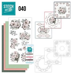 """BASTELSETS / CRAFT KITS Card set """"condolence"""" for embroidery"""